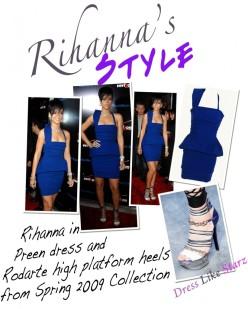 Rihanna in Preen