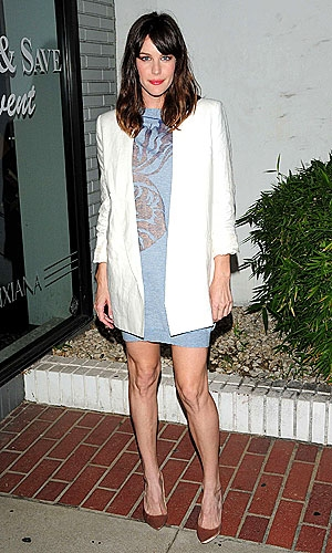 Liv Tyler in white blazer