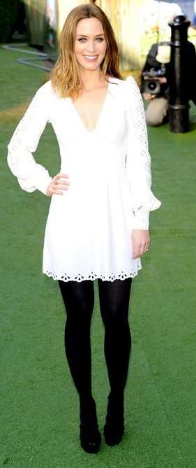Trends White Shift Dress With Black Tights Rubys View